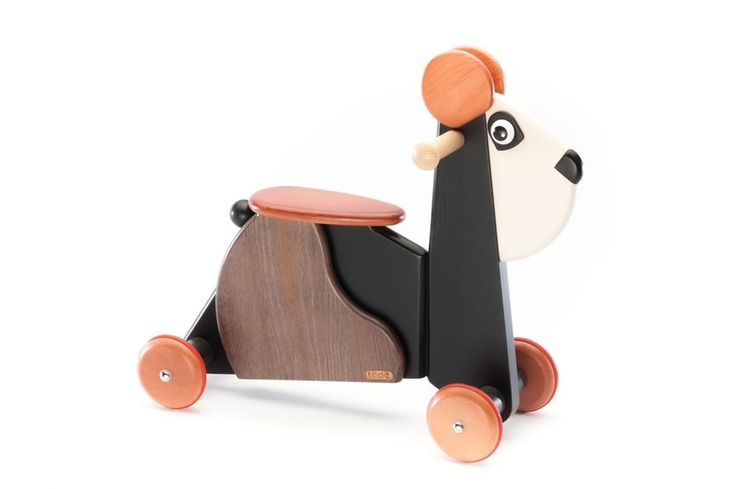 Wooden Toys – Emil Ride on Panda colored 00425IC  – a unique product by tedefamily on DaWanda
