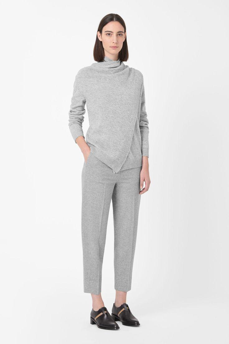 Overlap wool jumper