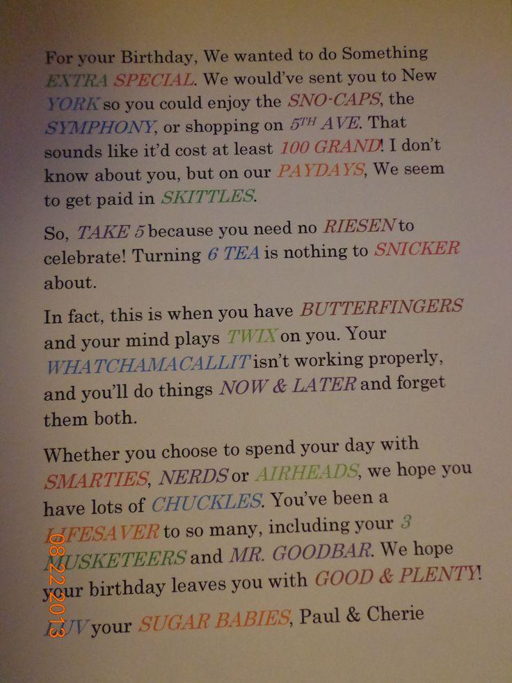 46 bästa bilderna om Poster board candy poems på Pinterest ...