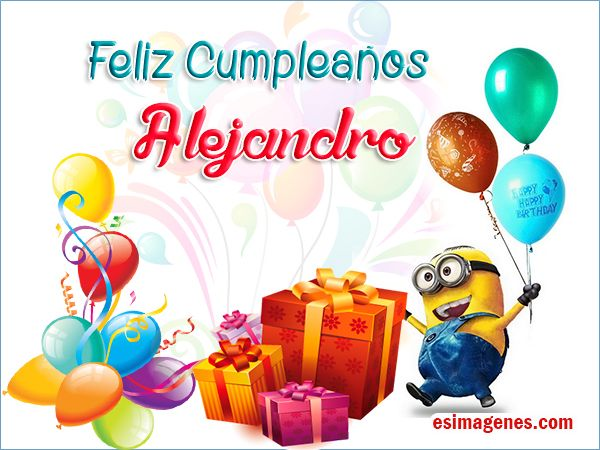 Feliz Cumpleaños Alejandro - Imágenes Tarjetas Postales con Nombres | Feliz Cumpleaños