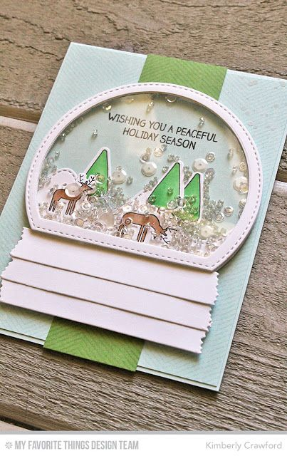 For the Love of Paper: two shaker cards; MFT Stamps October release countdown