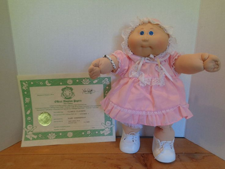 Vintage Xavier Roberts Preemie Cabbage Patch w/ Adoption Papers & Bracelet #CabbagePatchKids #DollswithClothingAccessories