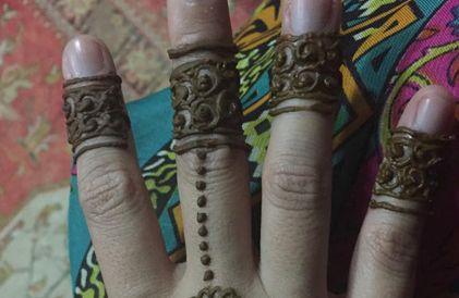 Gorgeous Arabic #henna #tattoo by Nuzhath Ideas
