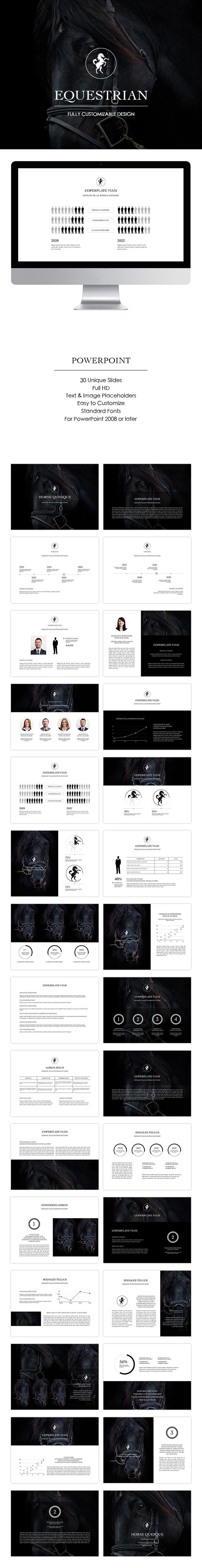 Equestrian - Business PowerPoint Templates