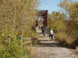 Katy Trail - At 225 miles, this is America's longest rail-trail.  Mellow mountain biking through rural Missouri along the Missouri River.  A host of B's and wineries along the route mean you can ride the entire Katy with a bike and credit card, and sample lots of heartland vino along the way.  Some good mountain bike trails spurt off the Katy as well.