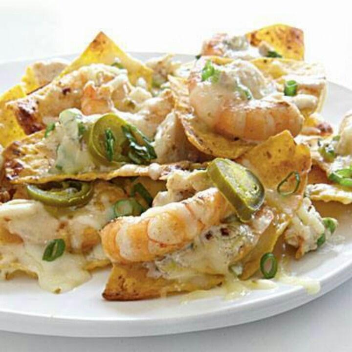 More like this: shrimp nachos , nachos and shrimp .