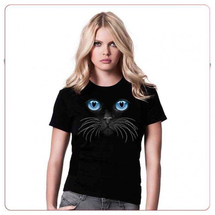 Tricouri cu pisici – Tricou Ochii albastri