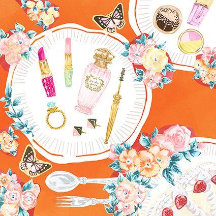 #make #fashion #fashionillustration #kanakobayashi #make #春 #メイク #butterfly #蝶 #広告