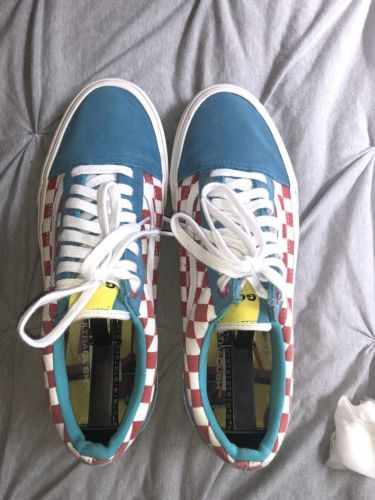 9bd1a9daeb62 Vans Golf Wang Tyler The Creator Old Skool Pro 10.5 Red Blue Checkered