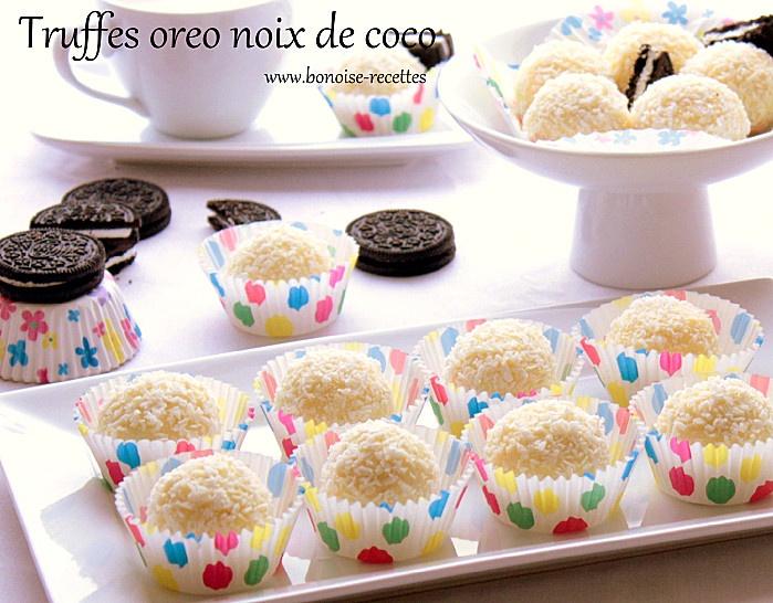 Petites boules farcies au biscuit Oreo du Blog Bonoise recettes.
