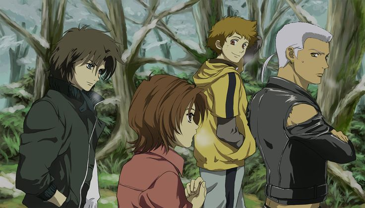 Kiba (Wolf's Rain), Toboe, Hige, Tsume, Hand In Pocket -by sell chan