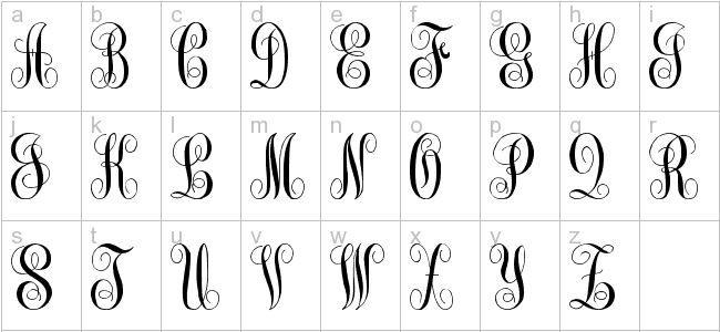 Best monogram images on pinterest diy fonts