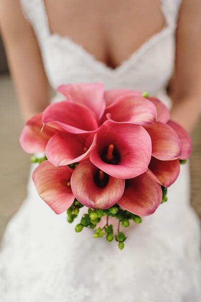 El ramo de novia. Calas rojas