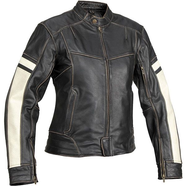 Motorcycle Jackets for Women   Women  39 s Dame Vintage Leather Jacket   Street Motorcycle   Motorcycle