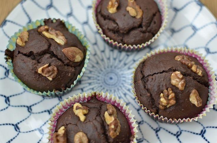 Een lekker en makkelijk recept voor glutenvrije chocolade muffins en het recept bevat ook geen boter, melk of eieren dus geschikt voor veganisten.
