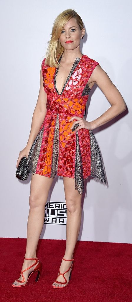Elizabeth Banks wore Peter Pilotto to the American Music Awards