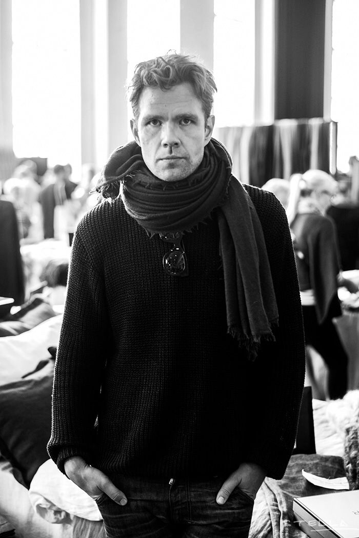 Mikko Rasila & Balmuir Helsinki scarf at Helsinki design market Sept 2014. Photo: Stella