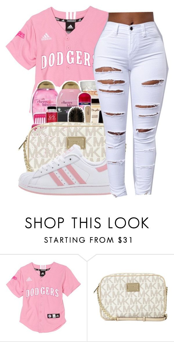 """Any time any place✨"" by maiyaxbabyyy ❤ liked on Polyvore featuring Michael Kors and adidas"