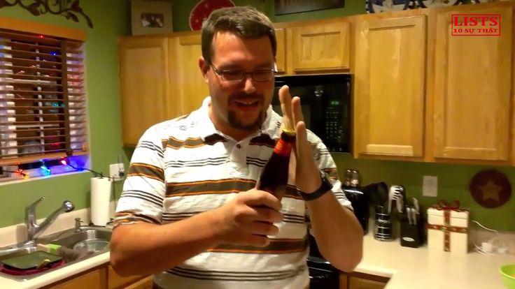 Chưa bao giờ tận mắt thấy 10 cách mở nắp chai không cần dùng khui tuyệt ...