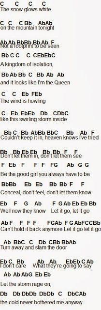 Flute Sheet Music: Let It Go