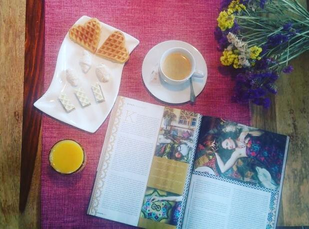 Editorilal for Sensa magazine photographed in our hotel #coffeetime #reading #magazine #cookies #flowers #enjoying #life #relaxing #lovesensa #hotel #belgrade #villaorient