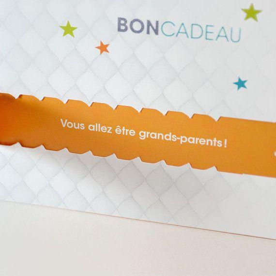 Papa Bon cadeau annonce grossesse Grand-mère par LaVieEnMagenta