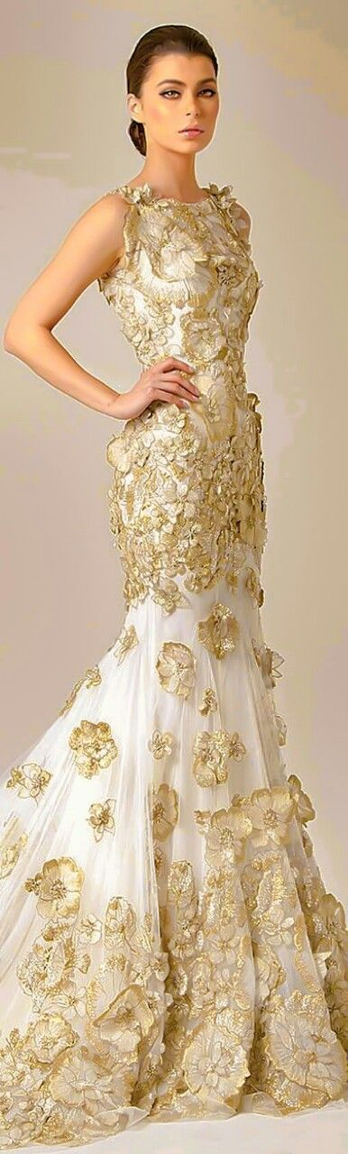 160 best White & Gold images on Pinterest | Evening gowns, High ...