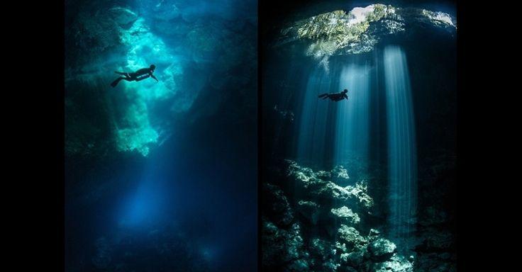 Estas imagens de Terry Steeley, da categoria 'Espírito de Aventura', acompanham uma jornada subaquática por um complexo de cavernas na área da Riviera Maya, no México. As melhores imagens do último concurso 'Travel Photographer of the Year' (Fotógrafo de Viagem do Ano, em tradução do inglês) estão em exposição em Londres, na Inglaterra