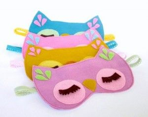 Perfect craft/favor for a night owl sleepover!