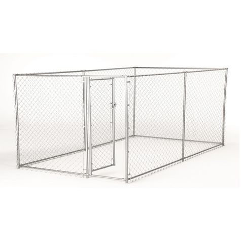 Lucky Dog 2-In-1 Box Chain Link Dog Kennel: Shopko