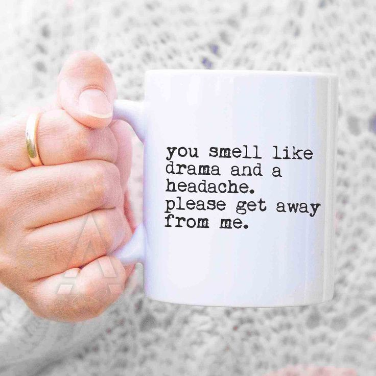 "Funny Office gift for christmas ""you smell like drama and headache"" coffee mug, coworker gift basket, gifts for him, office gift ideas MU410 by artRuss on Etsy"