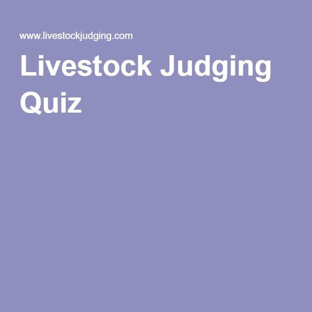 Livestock Judging Quiz
