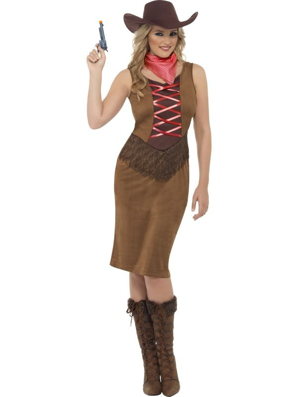 Adult 16 18 Fringe Cowgirl Party Fancy Dress Costume Wild West Western Indian | eBay