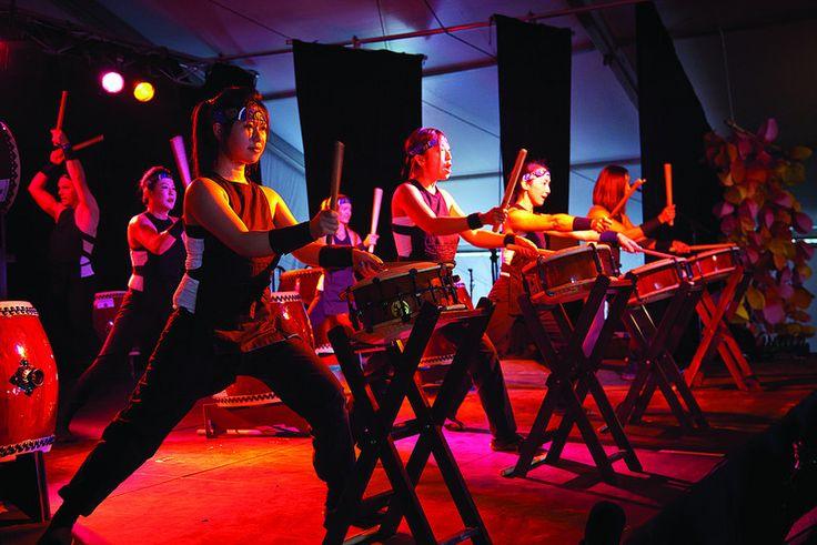 Kizuna Japanese Taiko Drumming - World Folklines.  Performing at the Woodford Folk Festival 2014/15. For more info visit: http://www.woodfordfolkfestival.com