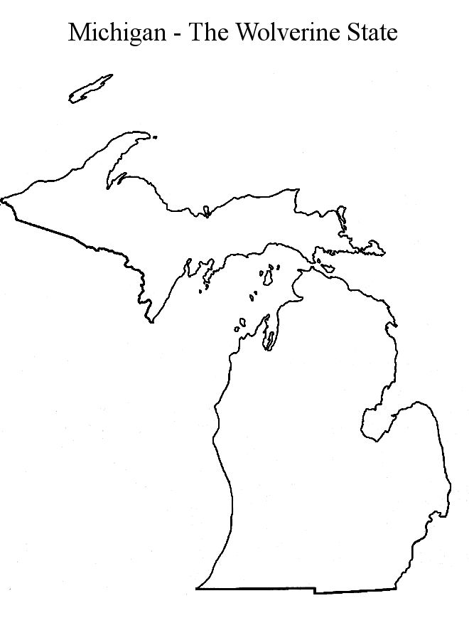 Michigan State Map Outline | CRAFT TIPS | Pinterest