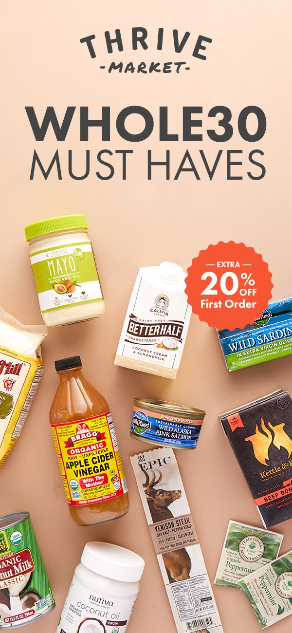 Melissa Hartwig partnered with Thrive Market to make shopping Whole30 easy! Shop Melissa's Whole30 Approved Product Catalog Exclusively at Thrive Market. Sign up today to get an Extra 20% off your first purchase.