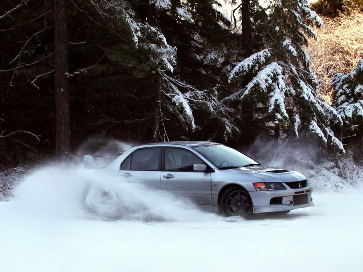 Bon 2006 #Mitsubishi #Evo #IX Snow Fun