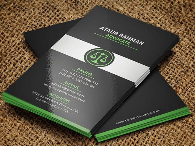 Free Lawyer Business Card Pivle Lawyer Business Card Free Business Card Templates Business Card Template