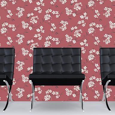 Wallpaper vliesbehang Blossom rood | Praxis