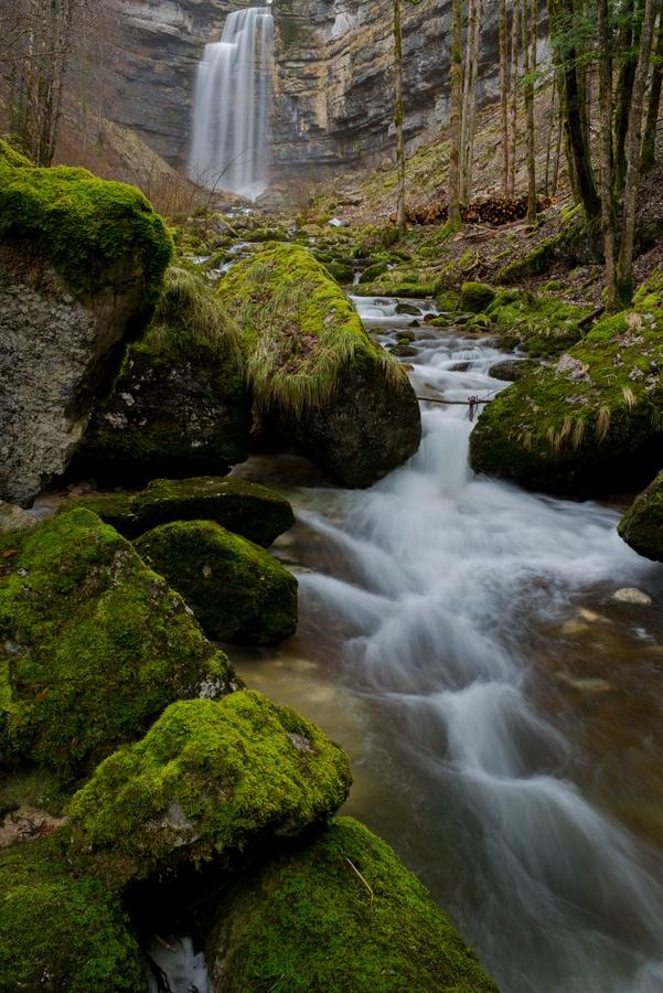 Hérisson Waterfalls, Jura, Franche-Comte, France
