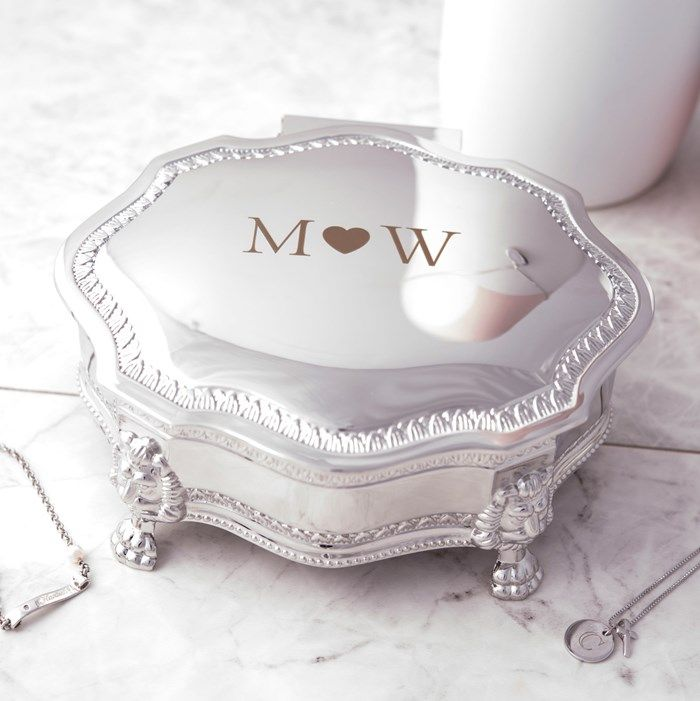 Engraved Vintage Style Jewellery Box - Initials | GettingPersonal.co.uk