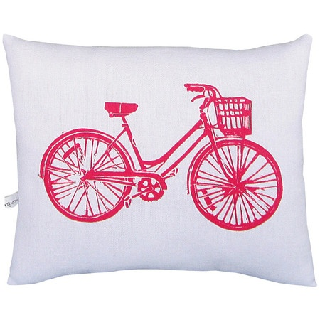 Bicycle Print Throw Pillow : Eloise Pillow My mom, Girls and House