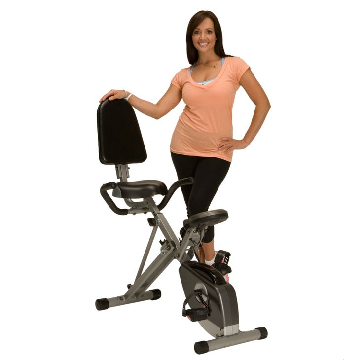 There's no need to drive to the gym when you have this Exerpeutic semi-recumbent exercise bike. Crafted with a frame that can hold up to 300 pounds, the bike features a tension control system and a convenient folding design that allows easy storage.