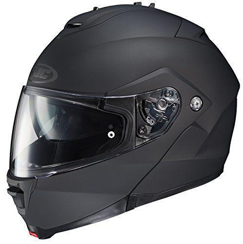 HJC IS-MAX II Modular Motorcycle Helmet (Matte Black, Large). For product info go to:  https://www.caraccessoriesonlinemarket.com/hjc-is-max-ii-modular-motorcycle-helmet-matte-black-large/