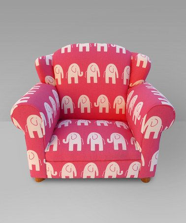 Mauricio S Furniture Pink Elephant Wingback Chair By