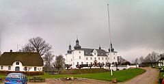 Engelsholm Castle, overlooking Engelsholm Lake, is located 14 km west of Vejle in south-western Denmark. Originally a manor house which traces its history back to the 15th century, it now houses a folk high school.