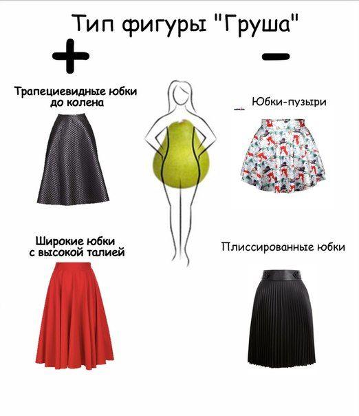 Юбка для «груши».  Если у Вас тип фигуры «треугольник», или как его ещё называют, «груша», то Вам следует носить:  #idealDS #dressuccess