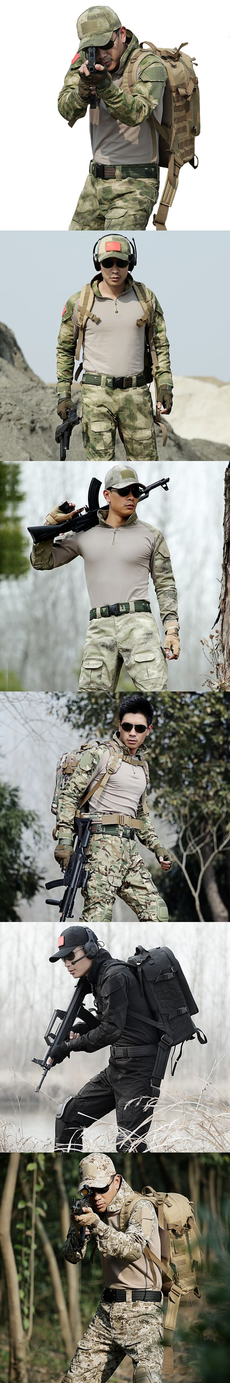 Tactical Suits Special Forces Military Camouflage T Shirt Mens Marine Corps Army SWAT Spetsnaz Combat Clothes Tactic Gear