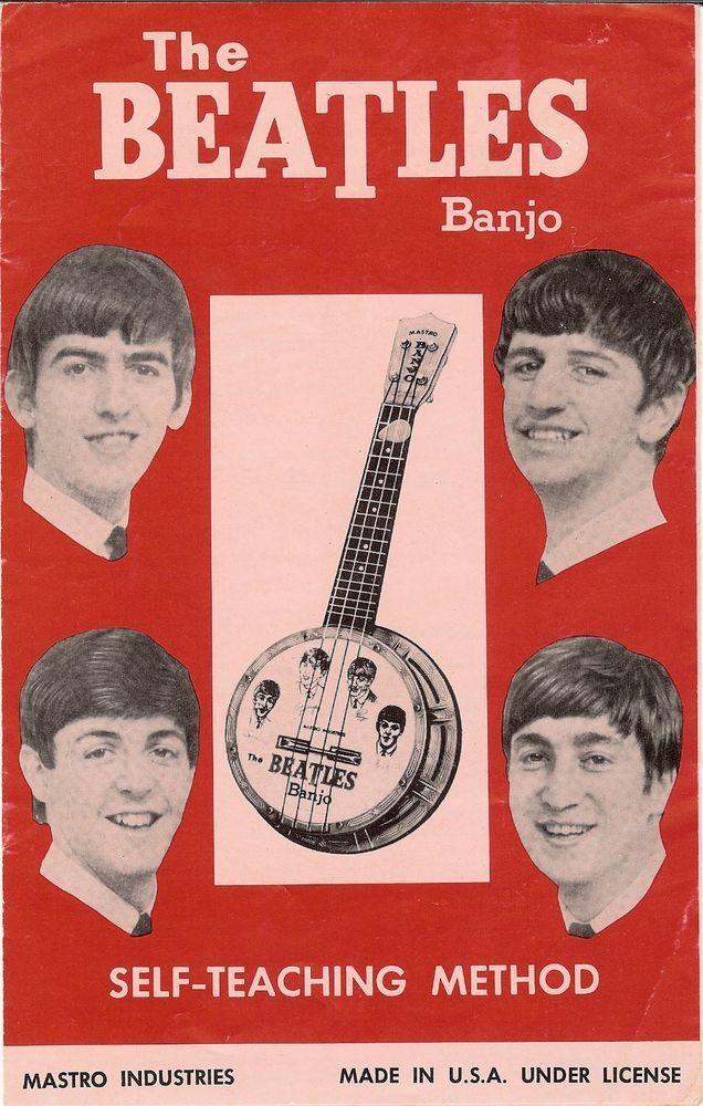 "Original 1964 MASTRO ""The Beatles Banjo"" Self-Teaching Method booklet"
