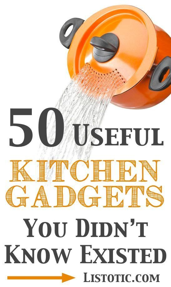 50 useful kitchen gadgets you didn't know existed but would love to have for your own home. These tools help with portion control, save kitchen space or simply make cooking life easier.